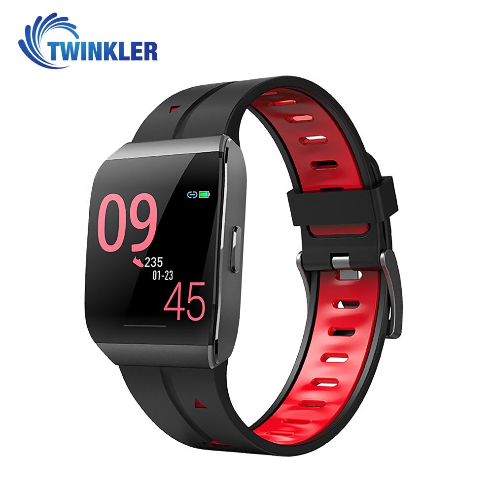 Ceas Smartwatch TKY-X1 cu functie de monitorizare ritm cardiac, Monitorizare somn, Monitorizare activitate GPS, Istoric traseu, Notificari Apel/ SMS, Rosu imagine