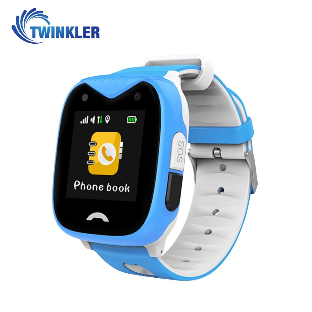 Ceas Smartwatch Pentru Copii Twinkler TKY-GK02 cu Functie Telefon, Localizare GPS, Camera, SOS, Istoric traseu, Apel de Monitorizare, Albastru, Cartela SIM Cadou imagine