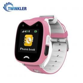 Ceas Smartwatch Pentru Copii Twinkler TKY-GK02 cu Functie Telefon, Localizare GPS, Camera, SOS, Istoric traseu, Apel de Monitorizare, Roz, Cartela SIM Cadou