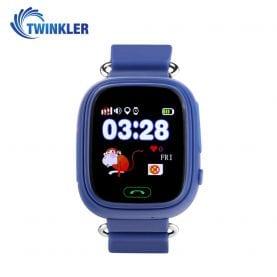 Ceas Smartwatch Pentru Copii Twinkler TKY-Q90 cu Functie Telefon, Localizare GPS, Pedometru, SOS, Joc Matematic – Albastru, Cartela SIM Cadou