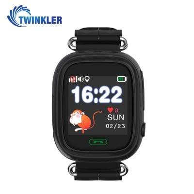 Ceas Smartwatch Pentru Copii Twinkler TKY-Q90 cu Functie Telefon, Localizare GPS, Pedometru, SOS, Joc Matematic – Negru, Cartela SIM Cadou