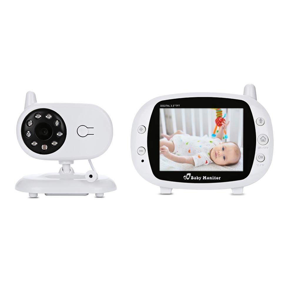 Baby Monitor Wireless BS-W217, Monitorizare Audio – Video, Lampa de veghe, Monitorizare temperatura, Comunicare bidirectionala, Cantece de leagan, Night Vision, Mod ECO, Baterie incorporata imagine