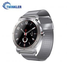 Ceas Smartwatch K88H Plus cu Functie Apelare prin Bluetooth, Senzor puls, Monitorizare somn, Notificari, Pedometru, Incarcare magnetica, Argintiu