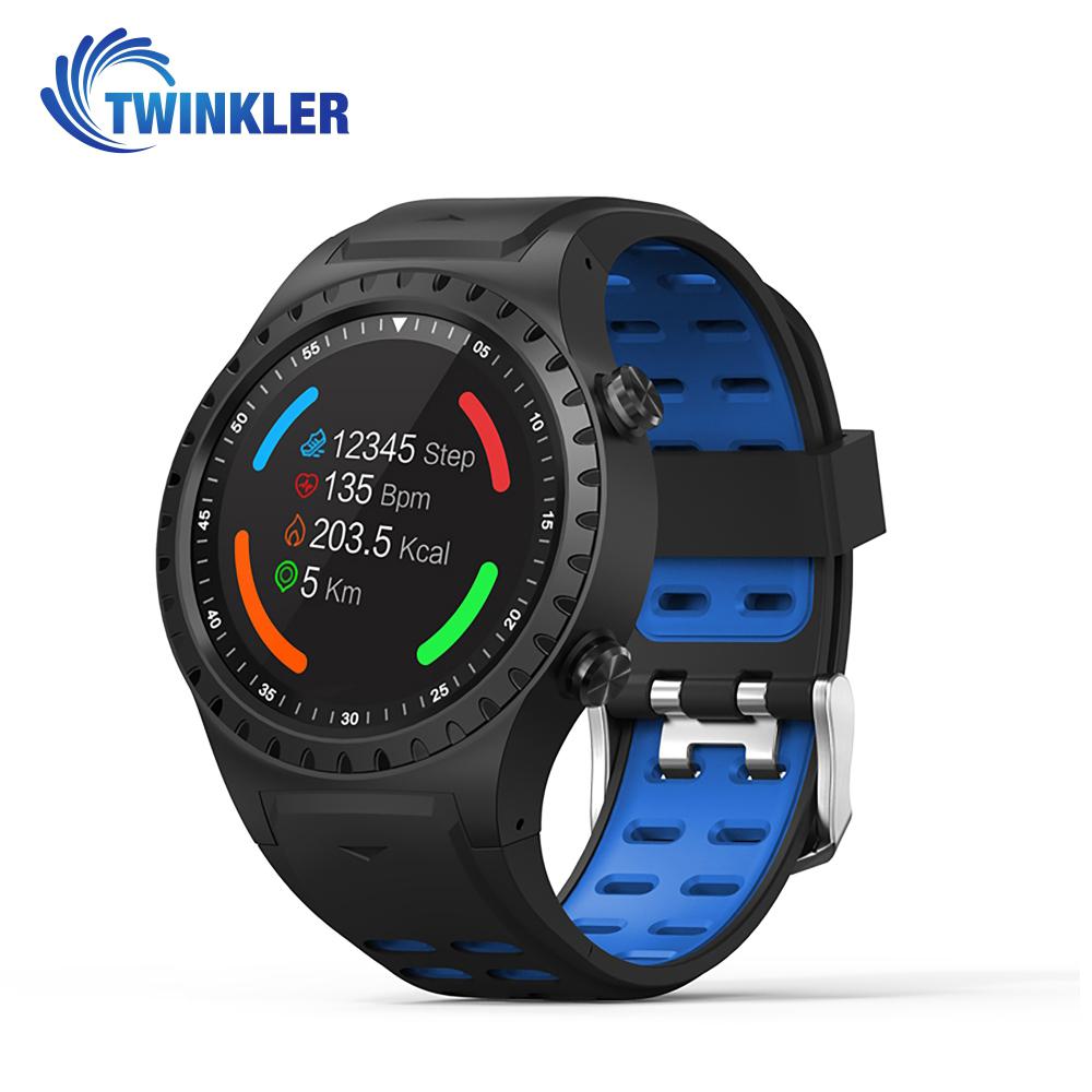Ceas Smartwatch TKY-M1 cu Functie Apelare prin Bluetooth, Ritm cardiac, Busola, Barometru, Pedometru, Albastru imagine