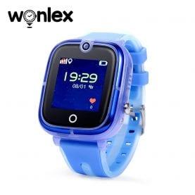 Ceas Smartwatch Pentru Copii Wonlex KT07 cu Functie Telefon, Localizare GPS, Camera, Apel Monitorizare, Pedometru, SOS – Albastru, Cartela SIM Cadou