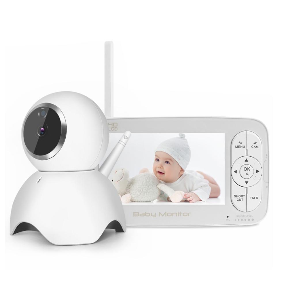 Baby Monitor Wireless BS-W50P, Ecran 5.0″, Monitorizare Audio – Video, Monitorizare temperatura, Comunicare bidirectionala, Cantece, Night Vision, Baterie incorporata imagine