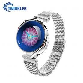 Ceas Smartwatch fashion Twinkler TKY-Z38 (S816) cu functie de monitorizare ritm cardiac, Tensiune arteriala, Calitate somn, Notificari, Vizualizare mesaje, Functie respingere apel, Argintiu