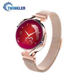 Ceas Smartwatch fashion Twinkler TKY-Z38 (S816) cu functie de monitorizare ritm cardiac, Tensiune arteriala, Calitate somn, Notificari, Vizualizare mesaje, Functie respingere apel, Auriu