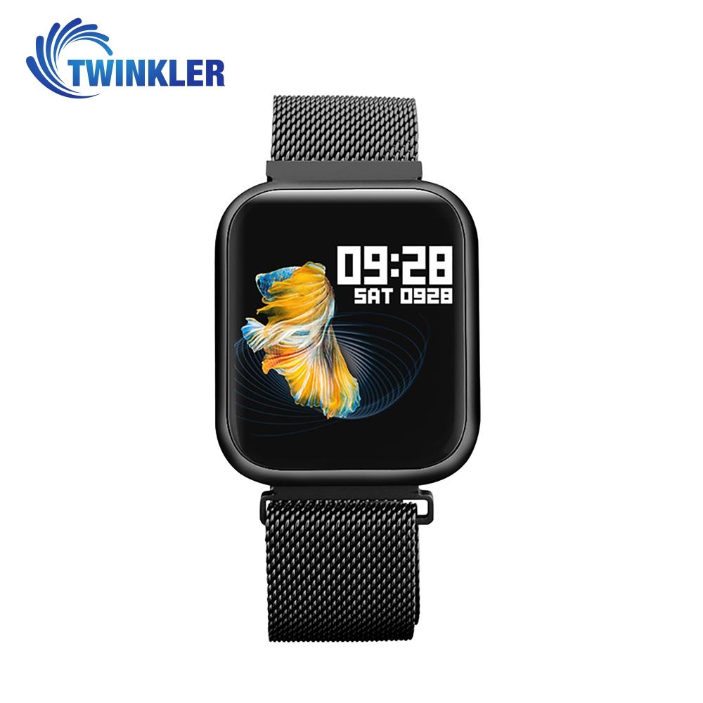 Ceas Smartwatch TKY-P80 cu functie de monitorizare ritm cardiac, Tensiune arteriala, Nivel oxigen, Monitorizare somn, Notificari Apel/ SMS, Bluetooth, Incarcare magnetica, Negru