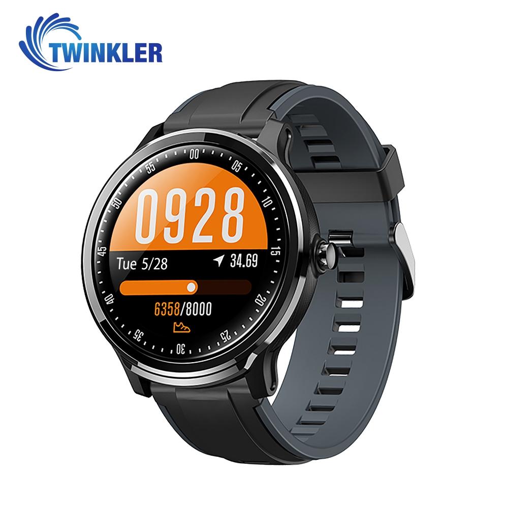 Ceas Smartwatch TKY-QS80 cu functie de monitorizare ritm cardiac, Tensiune arteriala, Nivel oxigen, Pedometru, Distanta parcursa, Calorii arse, Notificari Apel/ SMS, Negru-Gri