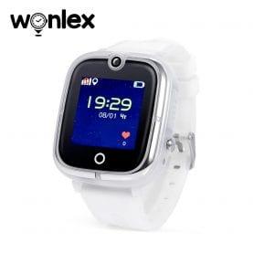 Ceas Smartwatch Pentru Copii Wonlex KT07 cu Functie Telefon, Localizare GPS, Camera, Apel Monitorizare, Pedometru, SOS – Alb, Cartela SIM Cadou