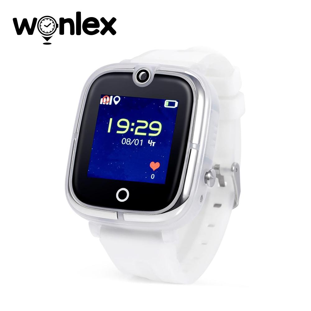 Ceas Smartwatch Pentru Copii Wonlex KT07 cu Functie Telefon, Localizare GPS, Camera, Apel Monitorizare, Pedometru, SOS - Alb, Cartela SIM Cadou