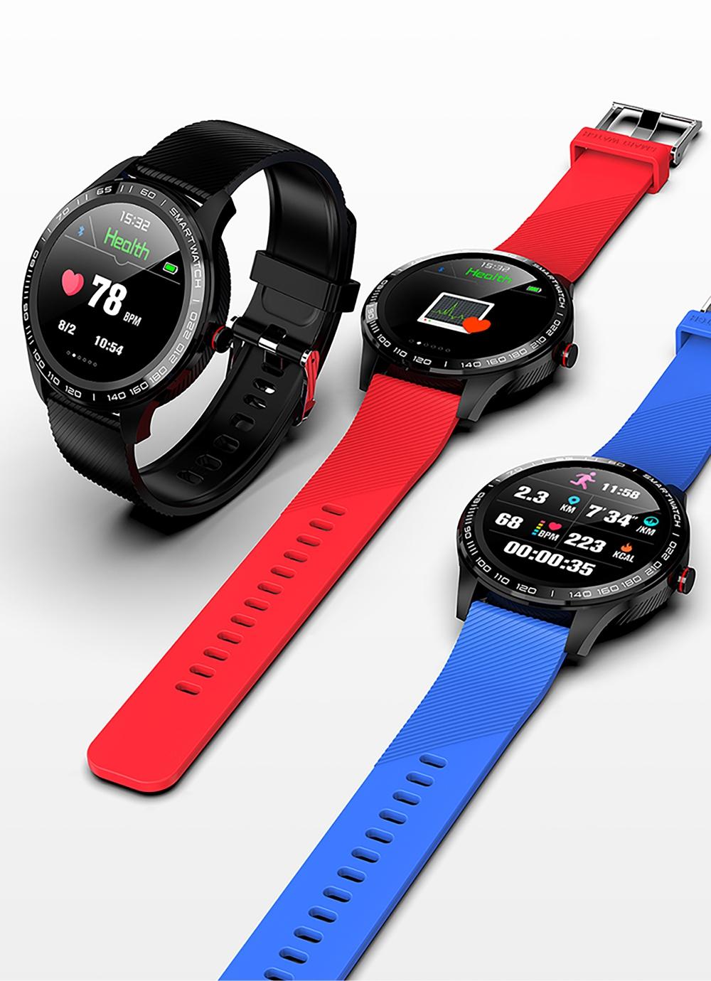 Ceas Smartwatch Twinkler TKY-M9 (L9) cu functie de monitorizare ritm cardiac, Tensiune arteriala, EKG, Nivel oxigen, Notificari Apel/ SMS, Incarcare magnetica, Negru