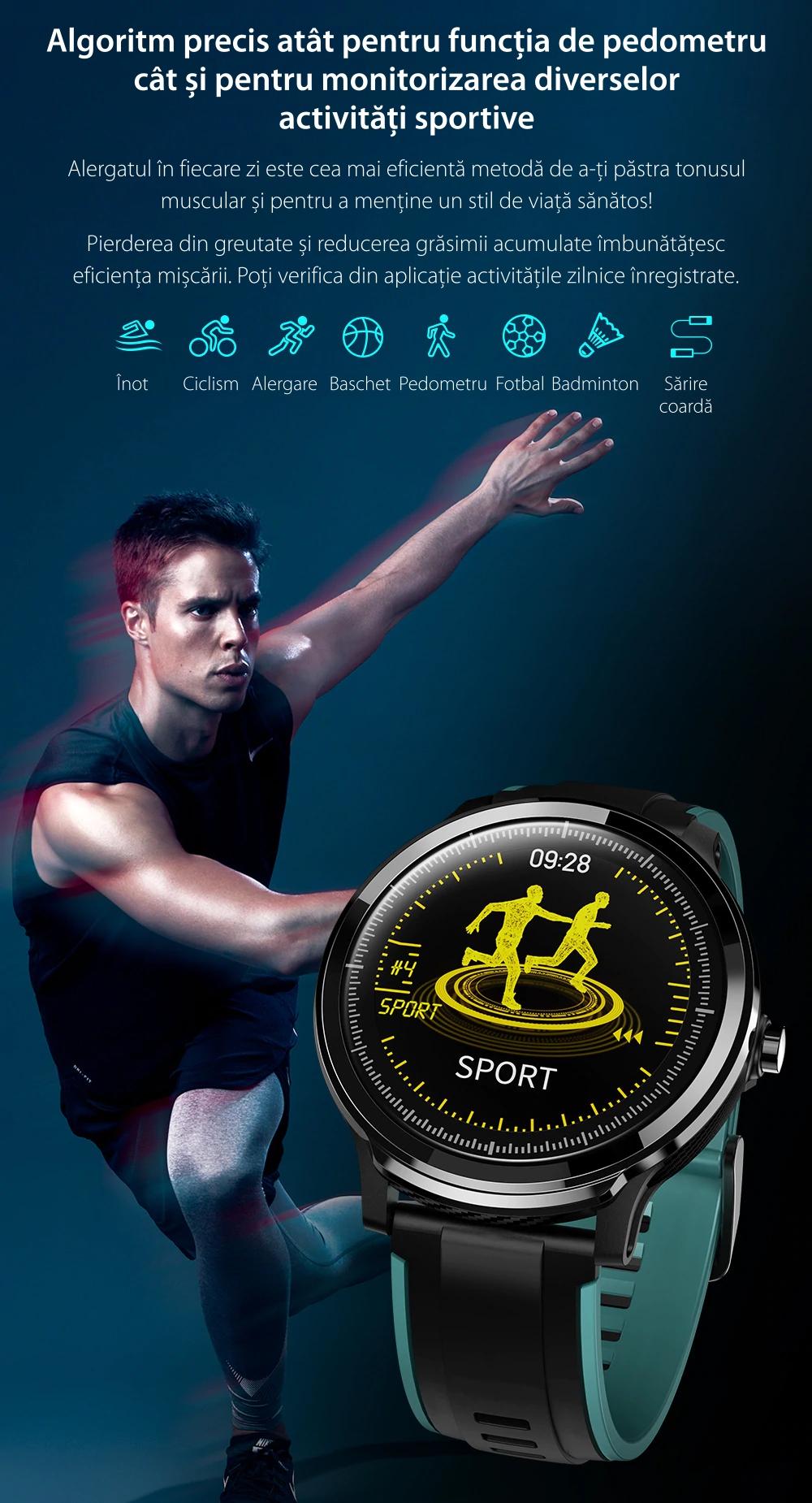 Ceas Smartwatch TKY-QS80 cu functie de monitorizare ritm cardiac, Tensiune arteriala, Nivel oxigen, Pedometru, Distanta parcursa, Calorii arse, Notificari Apel/ SMS, Negru-Portocaliu