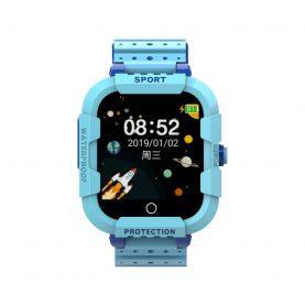 Ceas Smartwatch Pentru Copii Twinkler TKY-DF27 cu Functie Telefon, Apel video, Localizare GPS, Istoric traseu, Camera, SOS, Android, 4G, IP54, Joc Matematic, Albastru, Cartela SIM Cadou