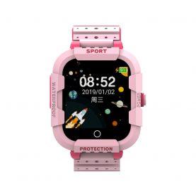 Ceas Smartwatch Pentru Copii Twinkler TKY-DF27 cu Functie Telefon, Apel video, Localizare GPS, Istoric traseu, Camera, SOS, Android, 4G, IP54, Joc Matematic, Roz, Cartela SIM Cadou