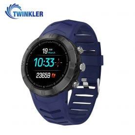 Ceas Smartwatch Twinkler TKY-DT08 cu functie de monitorizare variabilitate ritm cardiac (VRC), Tensiune arteriala, Calitate somn, Barometru, Altitudine, Busola, Albastru