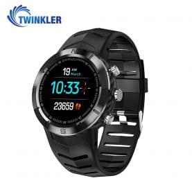 Ceas Smartwatch Twinkler TKY-DT08 cu functie de monitorizare variabilitate ritm cardiac (VRC), Tensiune arteriala, Calitate somn, Barometru, Altitudine, Busola, Negru
