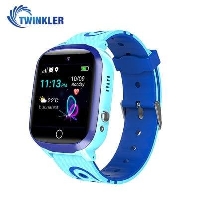 Ceas Smartwatch Pentru Copii Twinkler TKY-Q15 cu Functie Telefon, Localizare GPS, Istoric traseu, Apel de Monitorizare, Camera, SOS, Joc Matematic, Albastru, Cartela SIM Cadou