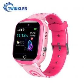 Ceas Smartwatch Pentru Copii Twinkler TKY-Q15 cu Functie Telefon, Localizare GPS, Istoric traseu, Apel de Monitorizare, Camera, SOS, Joc Matematic, Roz, Cartela SIM Cadou