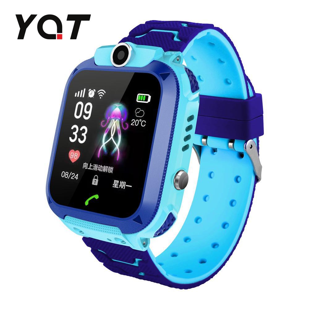 Ceas Smartwatch Pentru Copii YQT Q12W cu Functie Telefon, Localizare GPS, Istoric traseu, Apel de Monitorizare, Camera, Joc Matematic, Albastru, Cartela SIM Cadou imagine