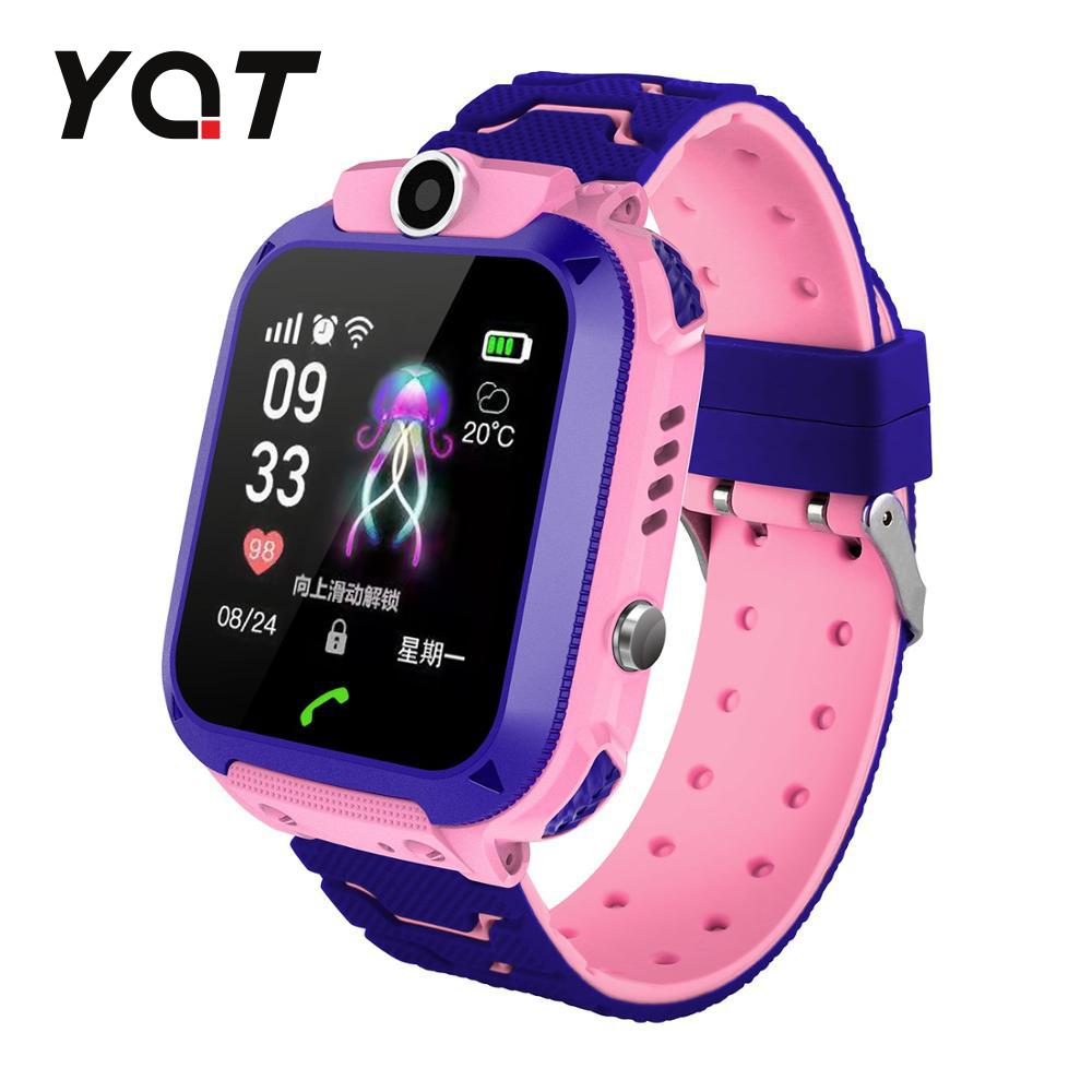 Ceas Smartwatch Pentru Copii YQT Q12W cu Functie Telefon, Localizare GPS, Istoric traseu, Apel de Monitorizare, Camera, Joc Matematic, Roz, Cartela SIM Cadou imagine