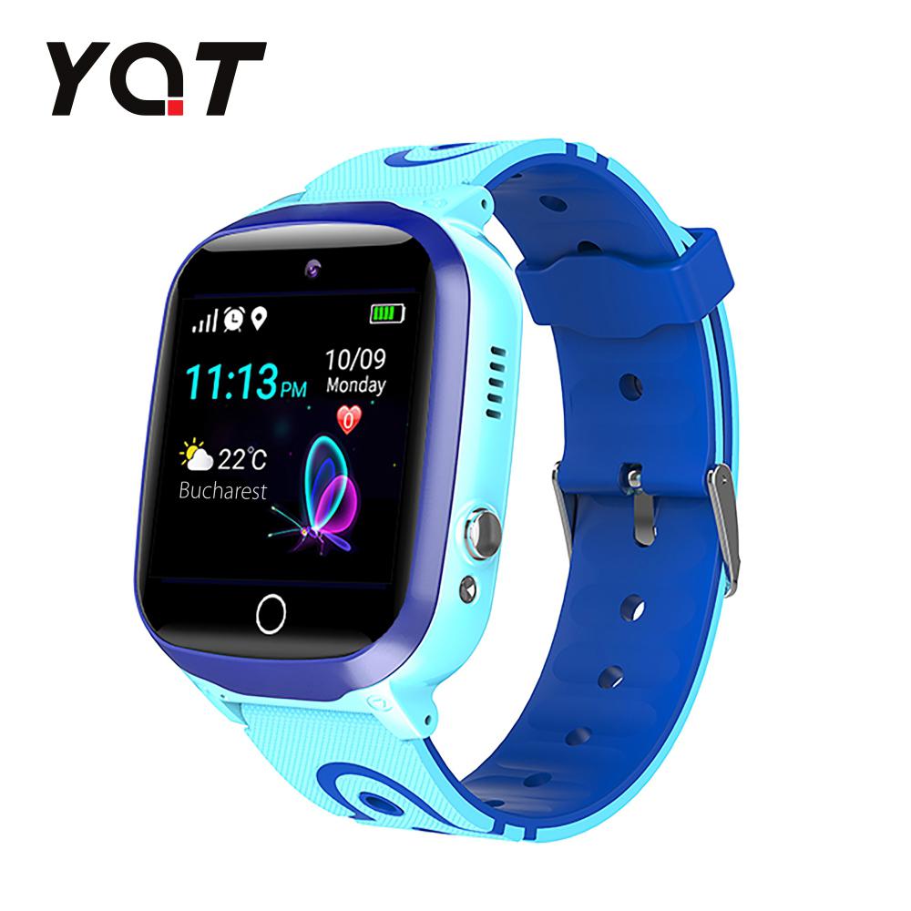 Ceas Smartwatch Pentru Copii YQT Q13 cu Functie Telefon, Localizare GPS, Istoric traseu, Apel de Monitorizare, Camera, SOS, Joc Matematic, Albastru, Cartela SIM Cadou imagine