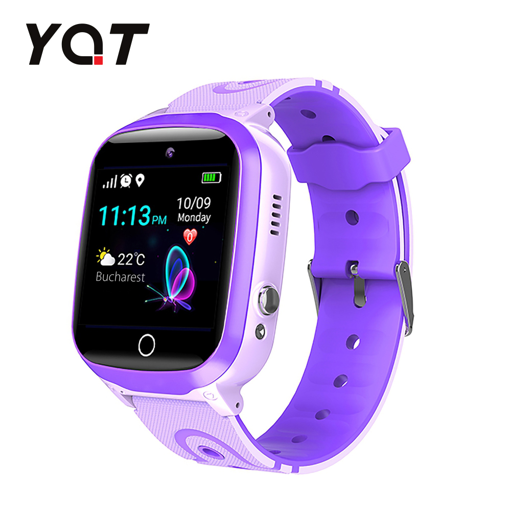 Ceas Smartwatch Pentru Copii YQT Q13 cu Functie Telefon, Localizare GPS, Istoric traseu, Apel de Monitorizare, Camera, SOS, Joc Matematic, Mov, Cartela SIM Cadou imagine