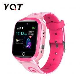 Ceas Smartwatch Pentru Copii YQT Q13 cu Functie Telefon, Localizare GPS, Istoric traseu, Apel de Monitorizare, Camera, SOS, Joc Matematic, Roz, Cartela SIM Cadou