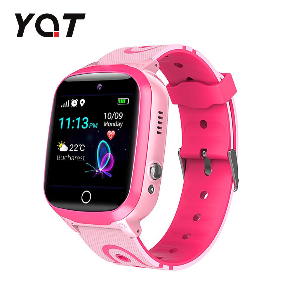 Ceas Smartwatch Pentru Copii YQT Q13 cu Functie Telefon, Localizare GPS, Istoric traseu, Apel de Monitorizare, Camera, SOS, Joc Matematic, Roz, Cartela SIM Cadou imagine