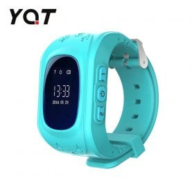 Ceas Smartwatch Pentru Copii YQT Q50 cu Functie Telefon, Localizare GPS, Pedometru, SOS – Turcoaz, Cartela SIM Cadou