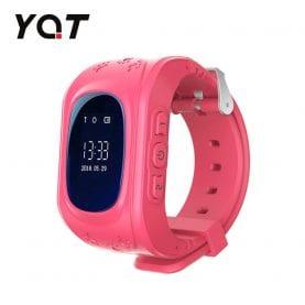 Ceas Smartwatch Pentru Copii YQT Q50 cu Functie Telefon, Localizare GPS, Pedometru, SOS – Roz, Cartela SIM Cadou
