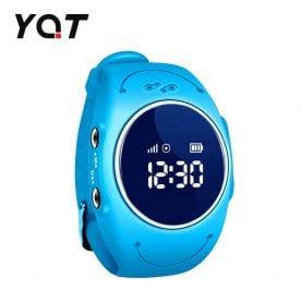 Ceas Smartwatch Pentru Copii YQT Q520S cu Functie Telefon, Localizare GPS, Istoric traseu, Apel de Monitorizare, Calitate somn, Pedometru, Albastru, Cartela SIM Cadou