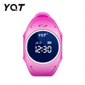 Ceas Smartwatch Pentru Copii YQT Q520S cu Functie Telefon, Localizare GPS, Istoric traseu, Apel de Monitorizare, Calitate somn, Pedometru, Roz, Cartela SIM Cadou