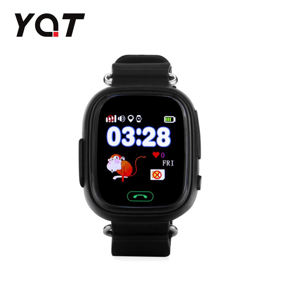 Ceas Smartwatch Pentru Copii YQT Q523 cu Functie Telefon, Localizare GPS, Pedometru, SOS – Negru, Cartela SIM Cadou imagine
