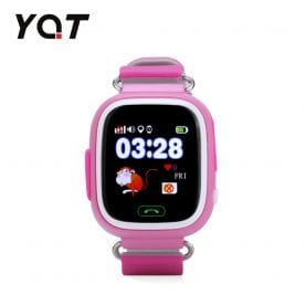 Ceas Smartwatch Pentru Copii YQT Q523 cu Functie Telefon, Localizare GPS, Pedometru, SOS – Roz, Cartela SIM Cadou