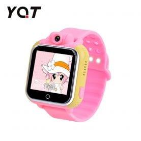Ceas Smartwatch Pentru Copii YQT Q730 cu Functie Telefon, Localizare GPS, Istoric traseu, Camera rotativa, Pedometru, SOS, 3G, Jocuri, Roz, Cartela SIM Cadou