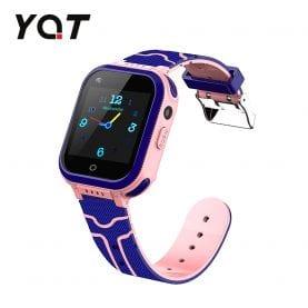 Ceas Smartwatch Pentru Copii YQT T3 cu Functie Telefon, Apel video, Localizare GPS, Istoric traseu, Apel de Monitorizare, Camera, Lanterna, Android, 4G, Roz, Cartela SIM Cadou