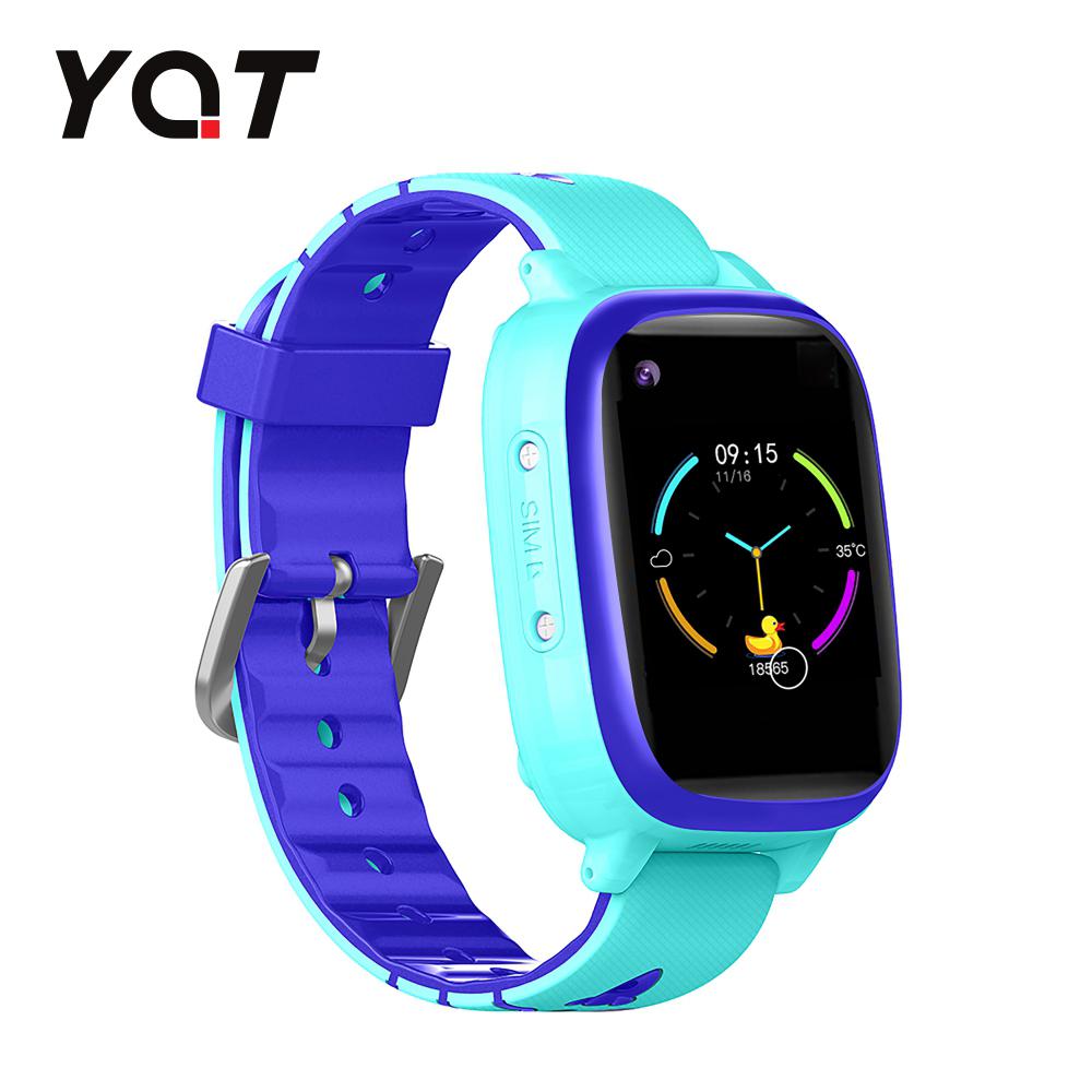 Ceas Smartwatch Pentru Copii YQT T5 cu Functie Telefon, Apel video, Localizare GPS, Istoric traseu, Apel de Monitorizare, Camera, Lanterna, Android, 4G, Albastru, Cartela SIM Cadou imagine