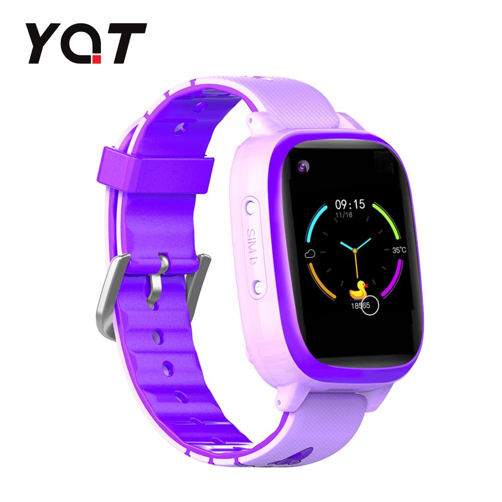 Ceas Smartwatch Pentru Copii YQT T5 cu Functie Telefon, Apel video, Localizare GPS, Istoric traseu, Apel de Monitorizare, Camera, Lanterna, Android, 4G, Mov, Cartela SIM Cadou imagine