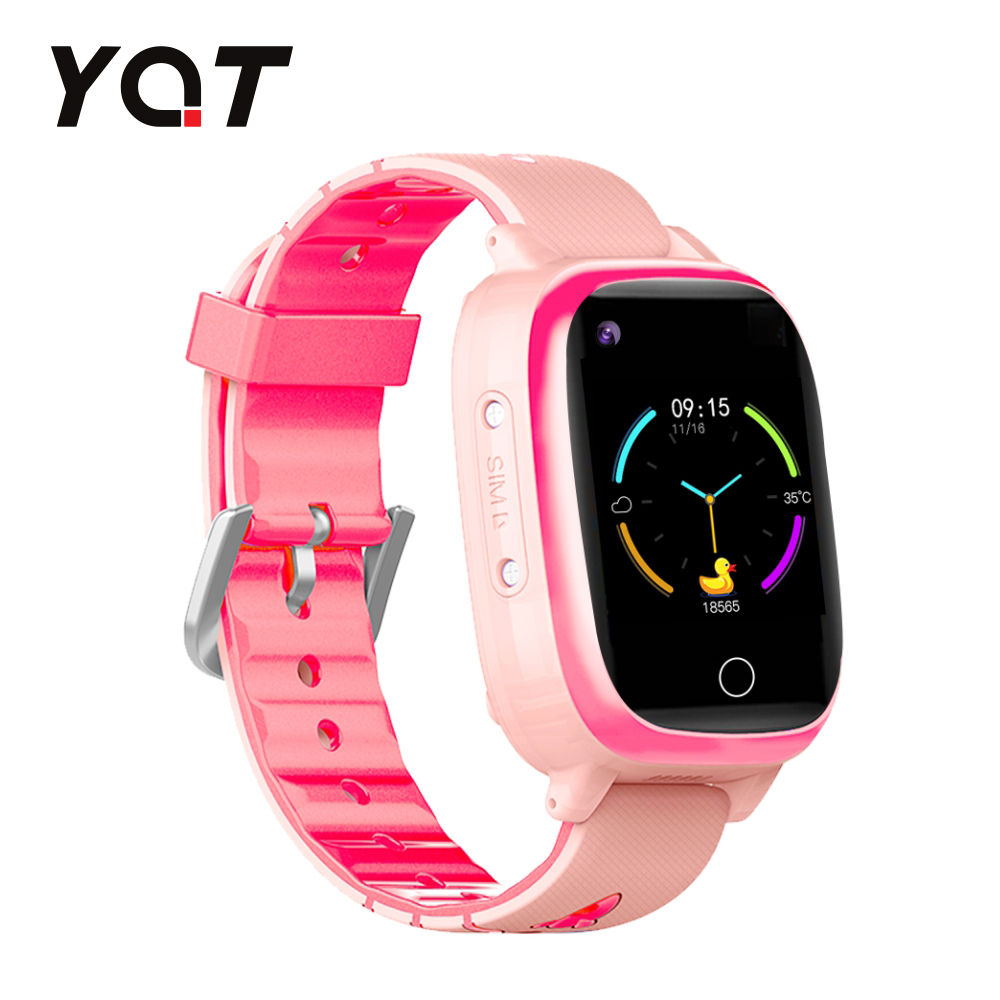 Ceas Smartwatch Pentru Copii YQT T5 cu Functie Telefon, Apel video, Localizare GPS, Istoric traseu, Apel de Monitorizare, Camera, Lanterna, Android, 4G, Roz, Cartela SIM Cadou imagine