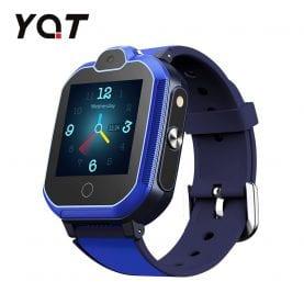 Ceas Smartwatch Pentru Copii YQT T6 cu Functie Telefon, Apel video, Localizare GPS, Istoric traseu, Apel de Monitorizare, Camera, Lanterna, Android, 4G, Albastru, Cartela SIM Cadou