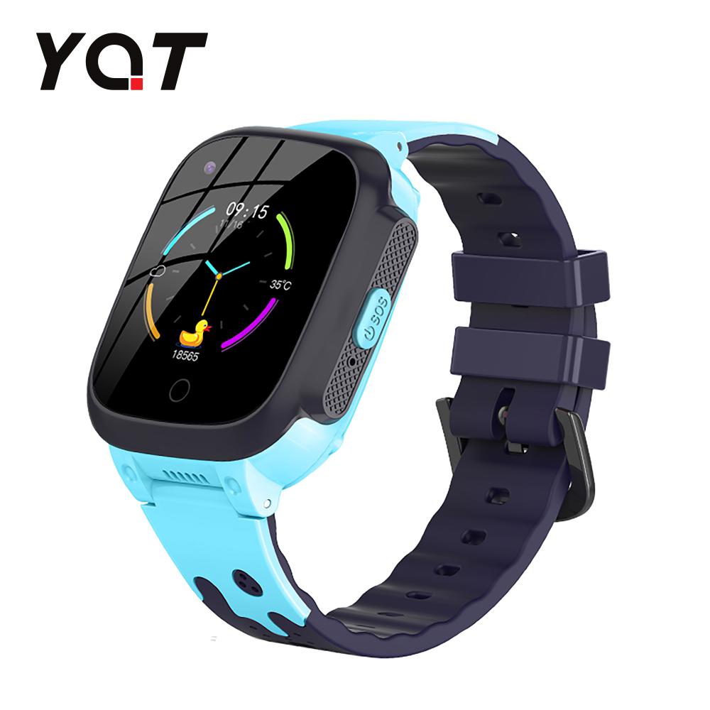 Ceas Smartwatch Pentru Copii YQT T8 cu Functie Telefon, Apel video, Localizare GPS, Istoric traseu, Pedometru, Apel de Monitorizare, Camera, Android, 4G, Albastru, Cartela SIM Cadou imagine