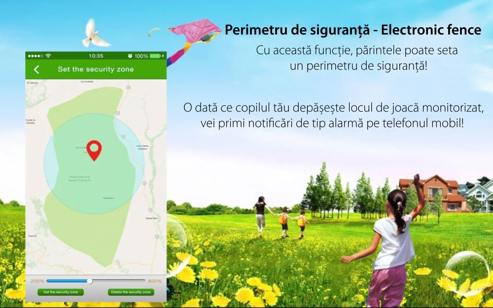 Ceas Smartwatch Pentru Copii YQT T8 cu Functie Telefon, Apel video, Localizare GPS, Istoric traseu, Pedometru, Apel de Monitorizare, Camera, Android, 4G, Albastru, Cartela SIM Cadou