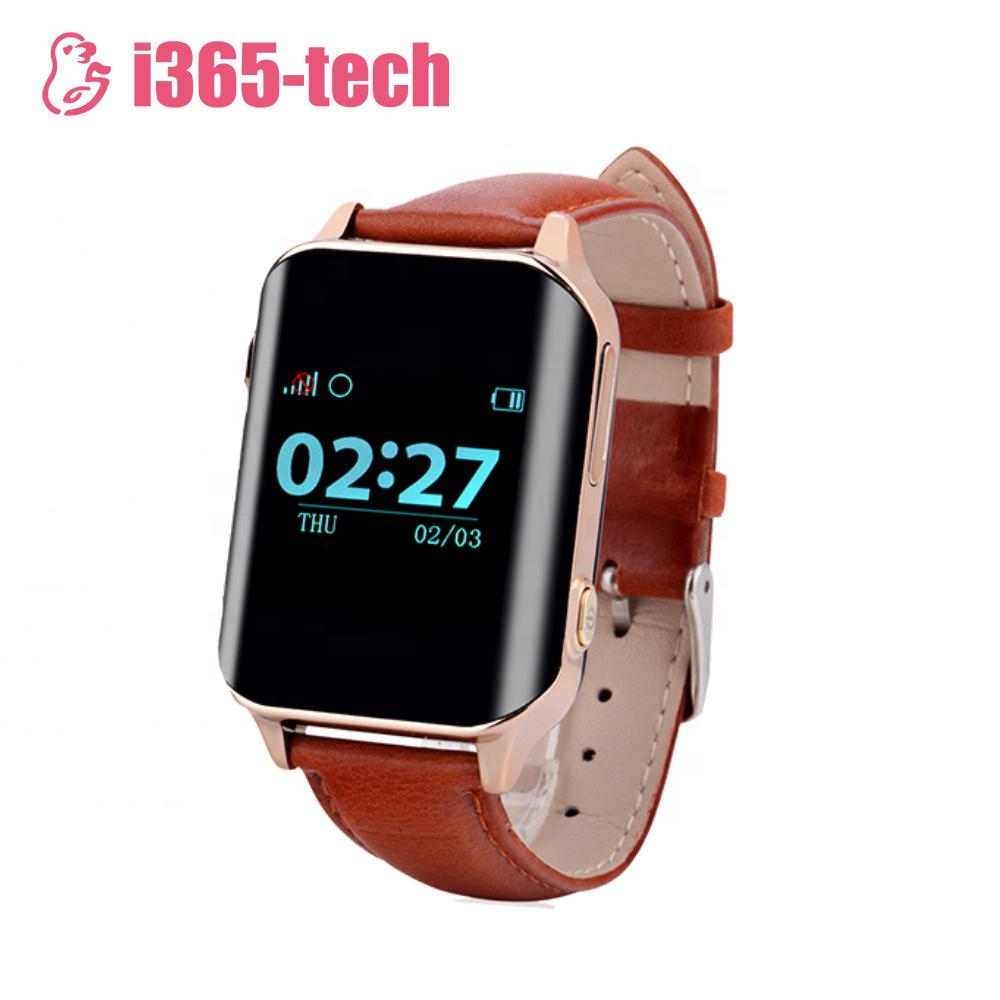 Ceas Smartwatch Pentru Adulti / Varstnici i365-Tech A16 cu Functie Telefon, Senzor puls, Localizare GPS, Pedometru – Maro imagine