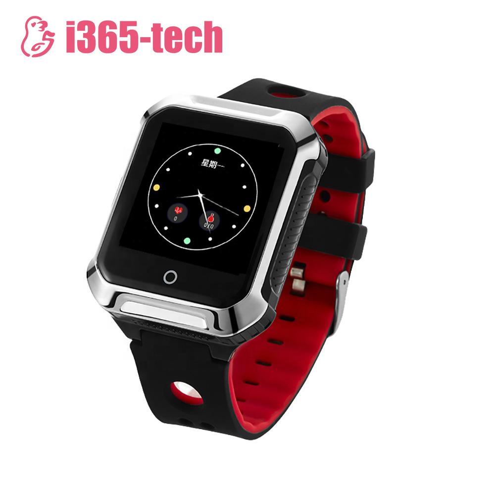 Ceas Smartwatch Pentru Adulti / Varstnici i365-Tech A20S cu Functie Telefon, Localizare GPS, Apel de monitorizare, Monitorizare ritm cardiac, Tensiune arteriala, Negru imagine