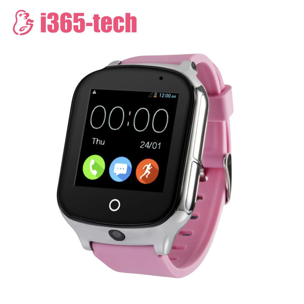 Ceas Smartwatch Pentru Copii i365-Tech A19 cu Functie Telefon, Localizare GPS, Camera, 3G, Pedometru, SOS, Android – Roz imagine