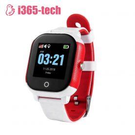 Ceas Smartwatch Pentru Copii i365-Tech FA23 cu Functie Telefon, Localizare GPS, SOS, Istoric traseu, Pedometru, Alb – Rosu
