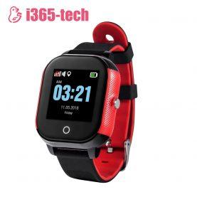 Ceas Smartwatch Pentru Copii i365-Tech FA23 cu Functie Telefon, Localizare GPS, SOS, Istoric traseu, Pedometru, Negru – Rosu