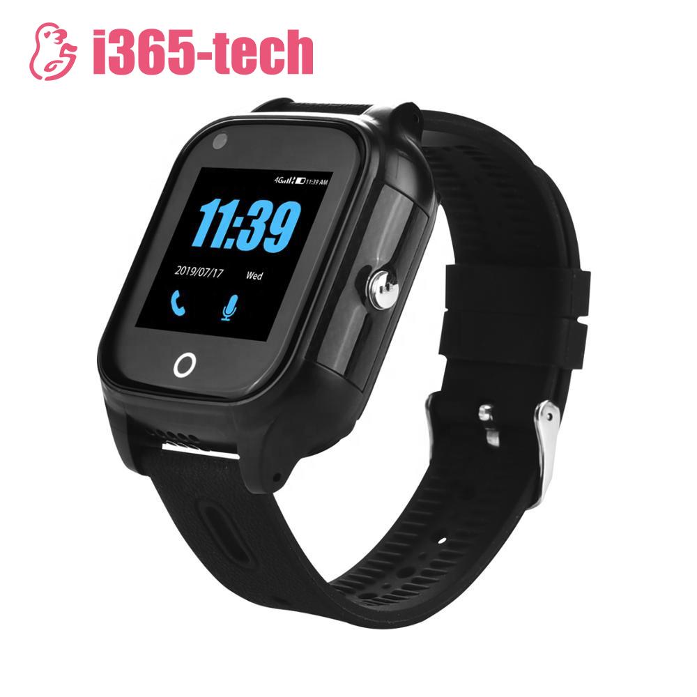 Ceas Smartwatch Pentru Adulti / Varstnici i365-Tech FA28S cu Functie Telefon, Apel video, Localizare GPS, Monitorizare ritm cardiac, Camera, Pedometru, SOS, IP54, 4G, Negru imagine